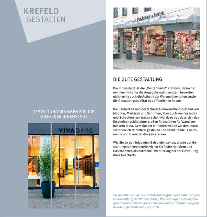 Identitätsstiftendes Gestaltungskonzept Stadt Krefeld