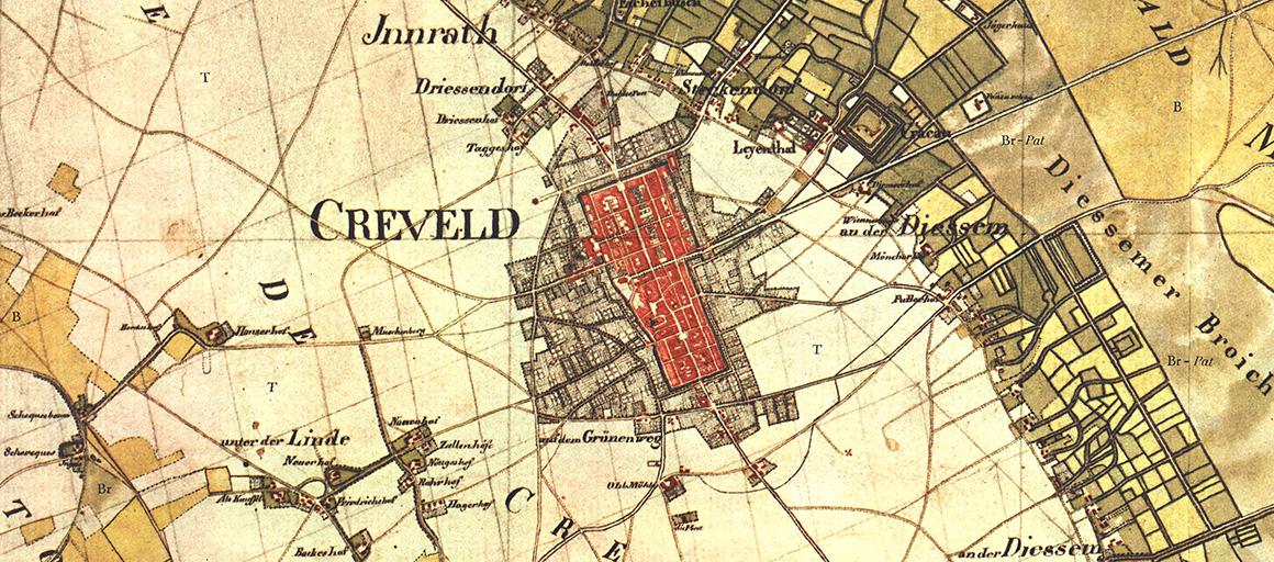 Krefeld Karte.Krefeld In Alten Karten Stadt Krefeld