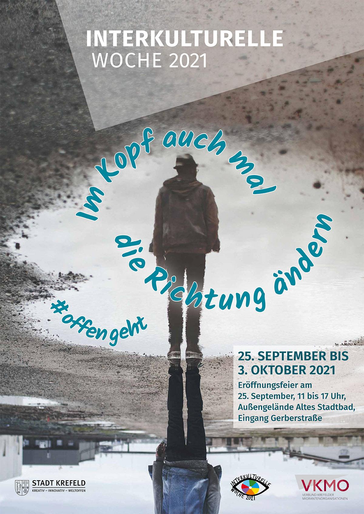 Plakat zur Interkulturellen Woche 2021.